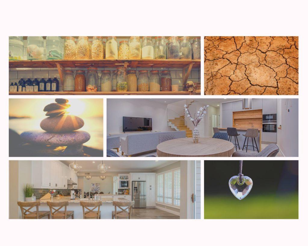 Aspiración y elementos decorativos de una habitación orientada en el centro según el Feng Shui.