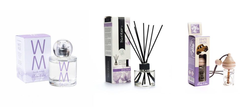 Productos de Boles d'olor dearoma White Musk: Eau de Parfum, Mikado Black Edition y On The Car