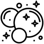 Icono burbujas